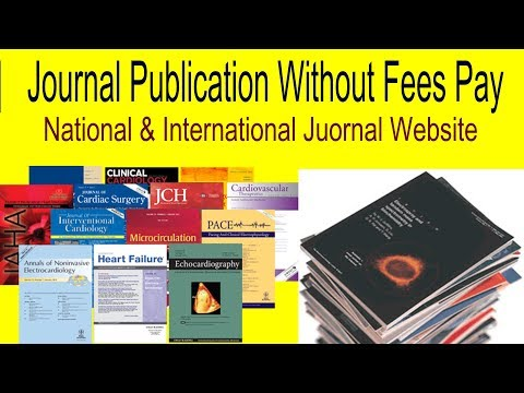 How To Journal Publication Without Fees Pay ||National / International Website||