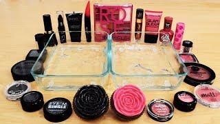 Black vs Rose - Mixing Makeup Eyeshadow Into Slime Special Series 133 Satisfying Slime Video