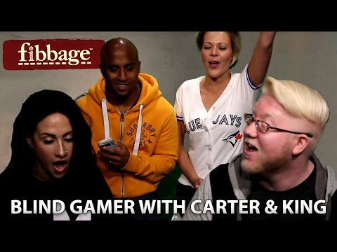 BLIND GAMER plays FIBBAGE with Carter and King from 93-5 The Move
