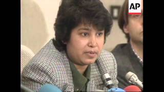 FRANCE: TASLIMA NASREEN PRESS CONFERENCE