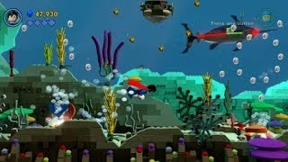 The LEGO Movie Videogame - The Depths 100% Guide (Gold Instruction Pages/Pants)