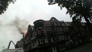 Żagań:Pożar dachu ul.Śląska