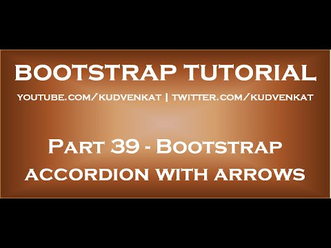 Bootstrap Accordion With Arrows