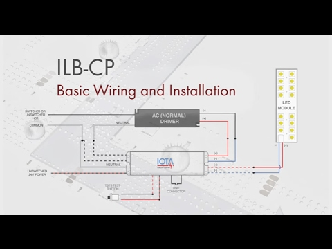 how to wire and test an iota ilb cp emergency driver youtube rh youtube com