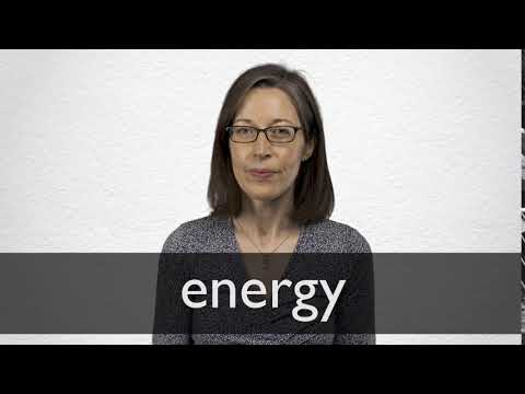 How to pronounce ENERGY in British English