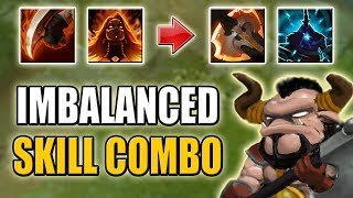 Permanent Lina Passive with Bloodrage [High Farming Speed: 10 Creeps/min] Dota 2 Ability Draft