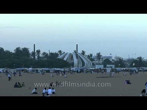 Marina Beach : a natural urban beach in Chennai