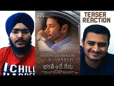 The Vision of Bharat REACTION | Mahesh Babu | DVV Entertainment | Bharat Ane Nenu Teaser