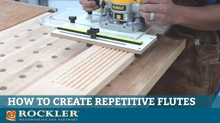 How to Set Up and Use the Rockler Router Fluting Jig
