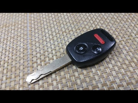 How to change key fob combo key battery Honda Civic Accord Pilot Odyssey Insight Fit 3 button