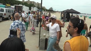 """Black Mass"" movie shooting on Revere Beach. July 10 - Shooting day! Part 2."