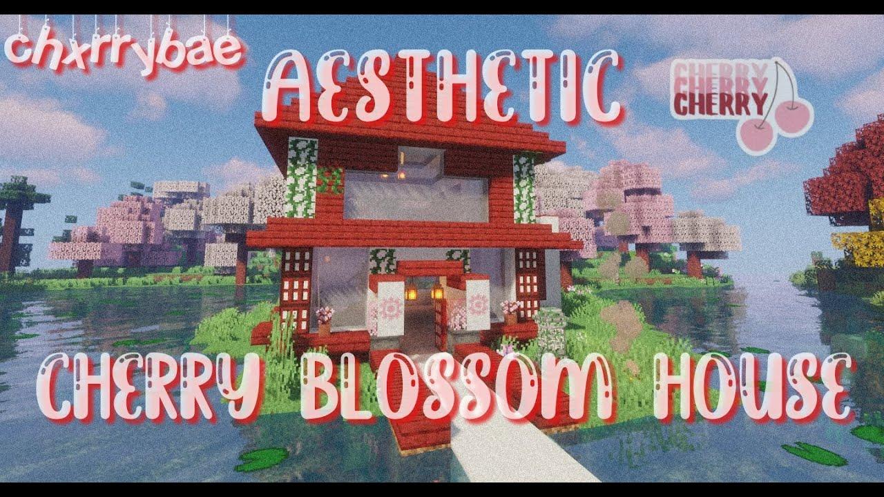 Aesthetic Cherry Blossom House Speed Build Youtube