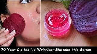Use Beetroot Aloevera GLOW SERUM on Face &amp Remove Wrinkles - Look 10 Years Younger &amp Get GLASS SKIN