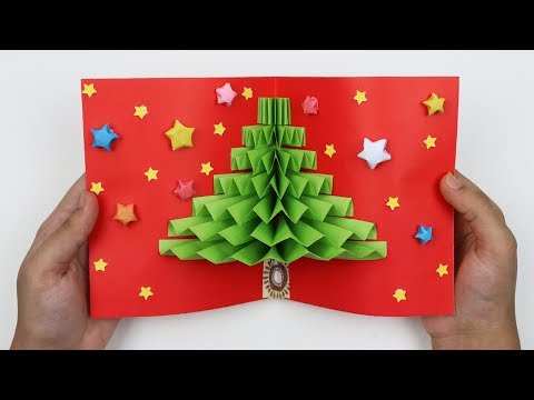 How to Make Beautiful and Easy Christmas Pop Up Card 3D Pop-up Greeting Card Making for Christmas