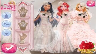 Disney Princess Games Luxury Brand Wedding Gowns