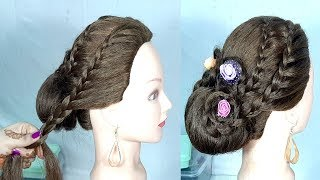 Most Beautiful Hairstyle For Gown, Lehnga    hairstyles for party/wedding    Trending hairstyles