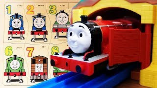 Learn Numbers with Thomas & Friends Plarail, Wooden jigsaw puzzle Rainbow Bridge and Rock tunnel