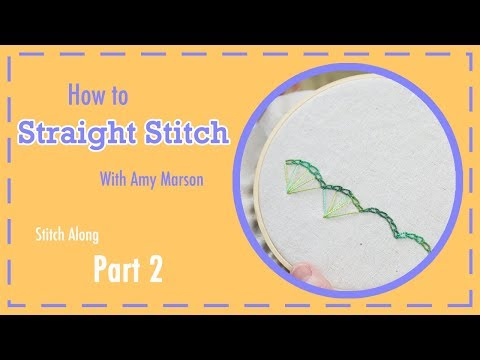 How To Straight Stitch | Tutorial