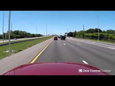 Billboard Video Ride: Digital Bulletin #809: I-4 and 50th St