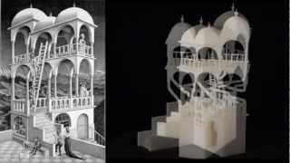 Escher for Real The Belvedere, Waterfall, Necker Cube, Penrose Triangle 3D Printing from Technion