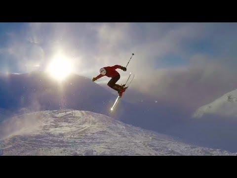 Dropping Into Christmas Chute Mount Alyeska Alaska Youtube