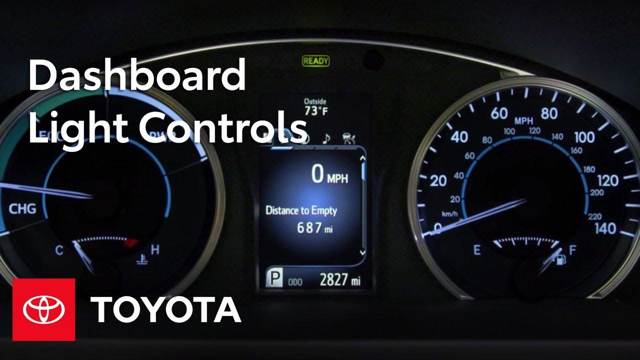 toyota how to dashboard light controls toyota [ 1280 x 720 Pixel ]