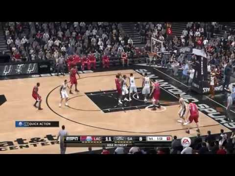NBA 2014 - Los Angeles Clippers vs San Antonio Spurs - 1st Qrt - NBA LIVE 15 PS4 - HD