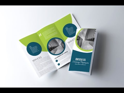 How to Create a Corporate Tri Fold Brochure in Photoshop - YouTube