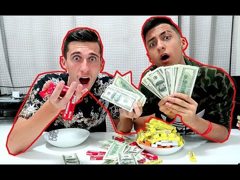 100 PIECES OF GUM CHALLENGE FOR MONEY *GONE WRONG PAINFULLY*
