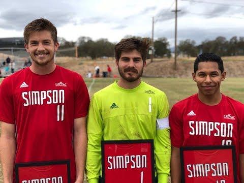 Simpson University Red Hawk Men's Soccer 2017 Season team Pics