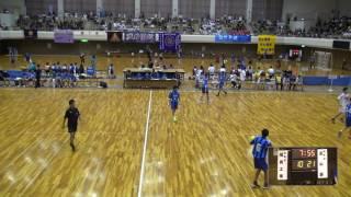 5日 ハンドボール男子 あづま総合体育館 Aコート 高山西×福島工業 1回戦 2