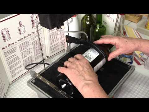 Cutting Bottles on the SwapTop™ Diamond Trim Saw