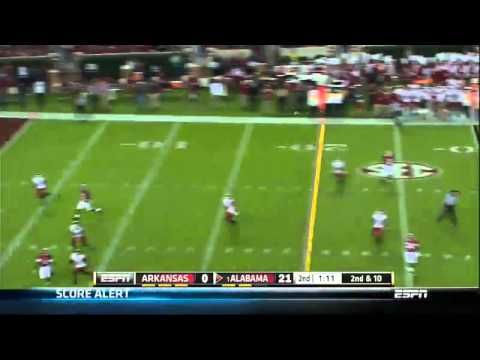 10/19/2013 Arkansas vs Alabama Football Highlights