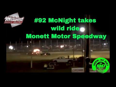 S03➜E444 #92 Micheal Delmar McKnight Pure Stock at Monett Motor Speedway flip.