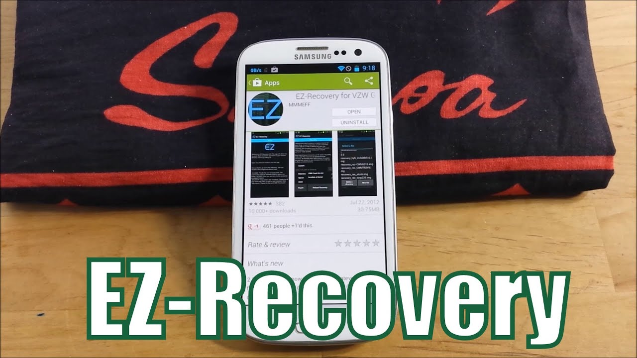How to Update to the Latest Recovery- Verizon Galaxy S3 - EZ-Recovery   TOO  EASY!