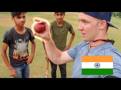 AMERICAN playing CRICKET in INDIA!