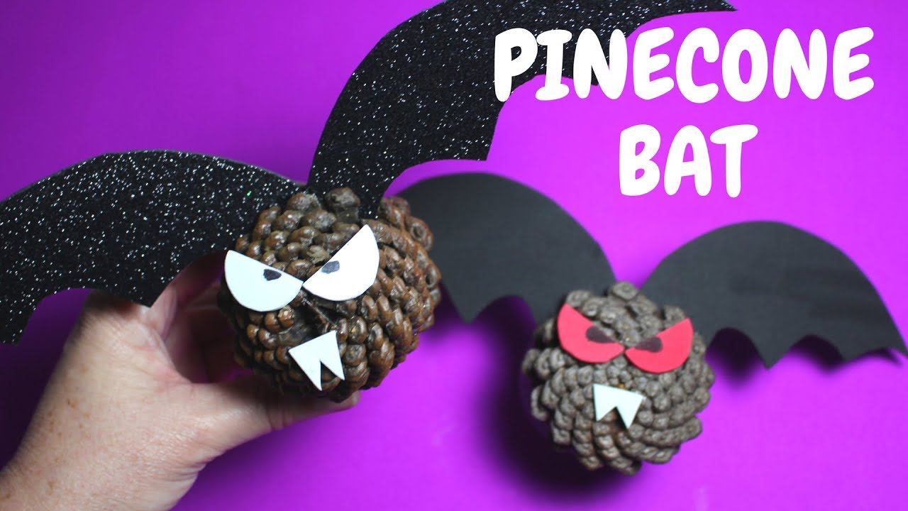 How To Make A Pinecone Bat Halloween Craft
