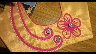 Embroidery  bridal blouse - normal machine