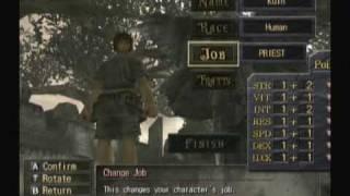 Valhalla Knights: Eldar Saga (Wii) - Character Creation