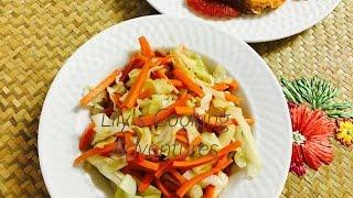 Stir Fry Cabbage With Carrots - Bắp Cải Xào Cà Rốt  - Vietnamese Food