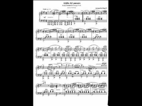 Addio del passato (Lara Fabian) - Piano Solo.wmv