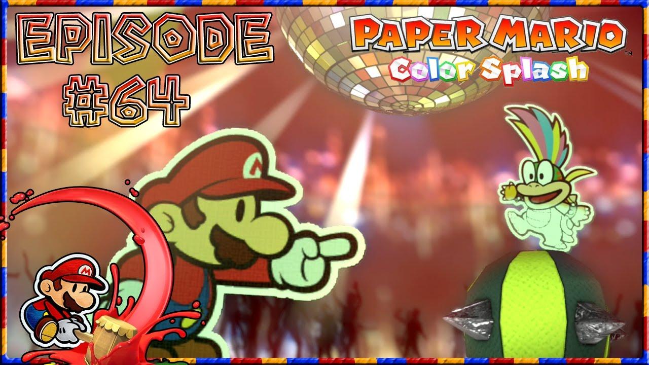 Paper Mario Color Splash Lemmy The Final Big Paint Star