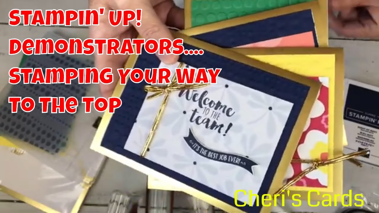 Stamping Your Way To The Top Stampin Up Demonstrator Only Stamp Set
