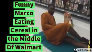 Funny Marco blind fighting supermarket punching Newest Skits