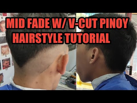 mid-fade-w/-v-cut-tutorial-pinoy-hairstlyes