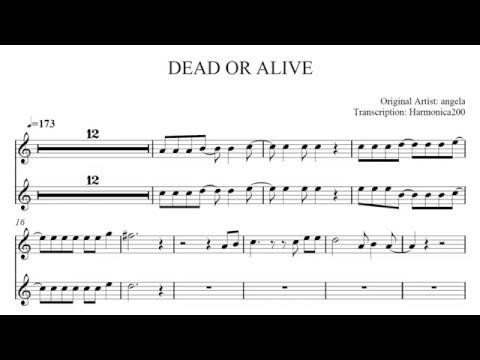 DEAD OR ALIVE harmonica cover【sheet music 楽譜付】