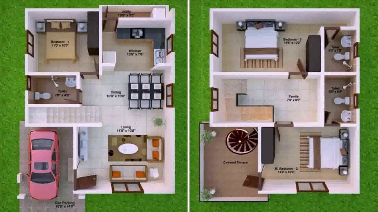600 Sq Ft House Plans With Car Parking - YouTube