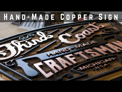 Making A Vintage Looking Copper And Barnwood Logo Sign | Woodworking | How To | DIY
