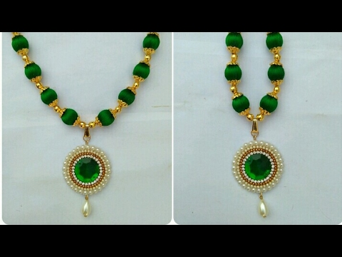 dori jewelry necklace black thread designs simple latest jewellery category