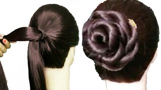 New rose petal juda Hairstyle for girls